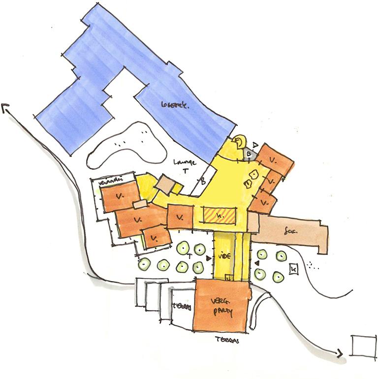 Blooming hotel - vlekkenplan