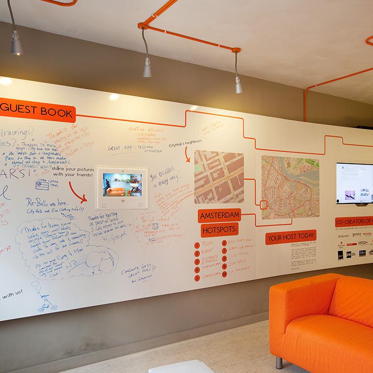 CityHub Amsterdam - interactive wall