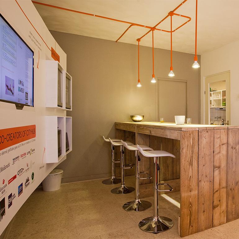 CityHub Amsterdam - social room