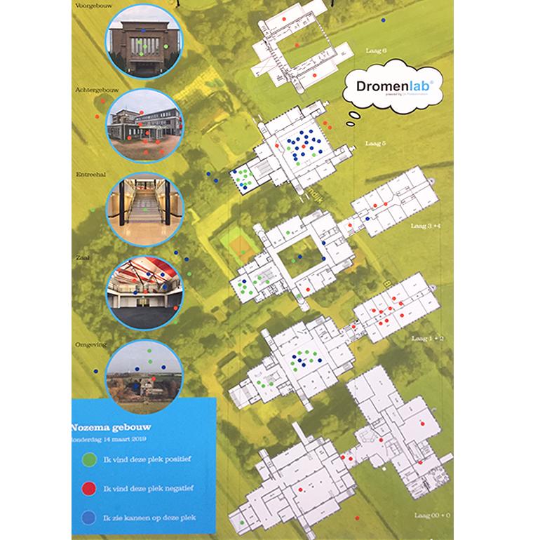 Dromenlab Nozema gebouw - waarderingskaart