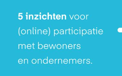 Vijf tips voor (online) participatie met bewoners en ondernemers
