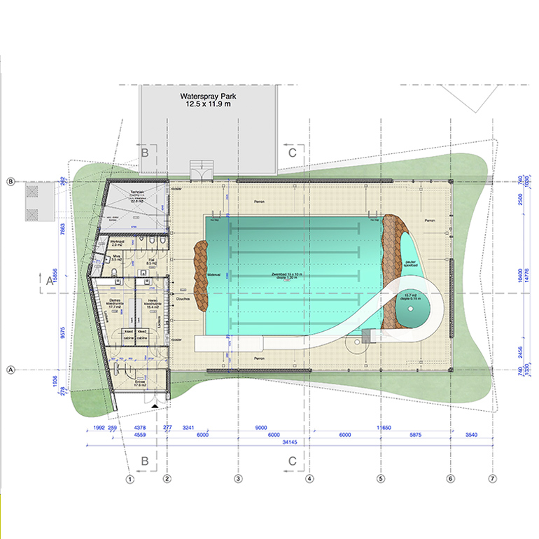 Zwembad Camping - Plattegrond
