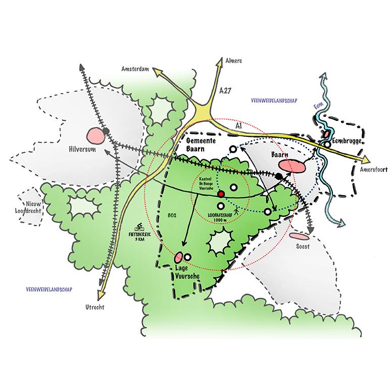 Kasteel De Hooge Vuursche - regionale analyse