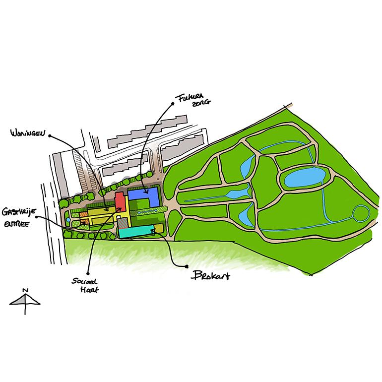 Het Juvenaat - Stedenbouwkundige inpassing