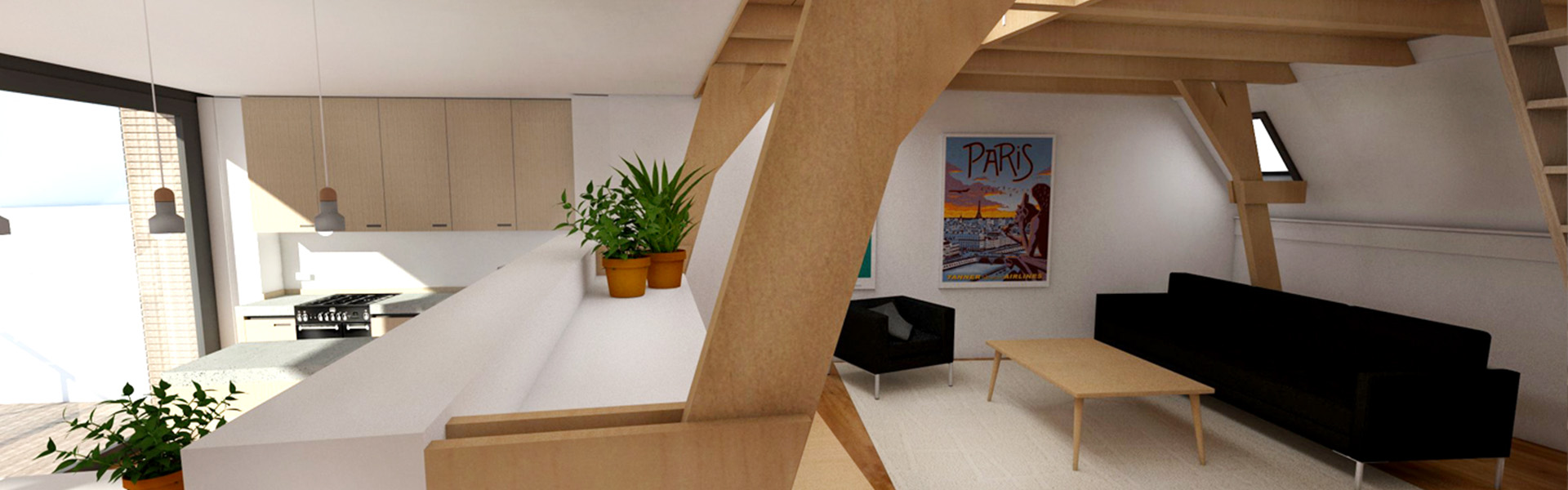 Rijksmonument Walstraat - appartement met skybox