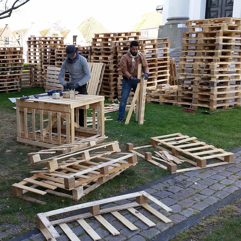 PleinGoed Zierikzee - pallet bouwplaats