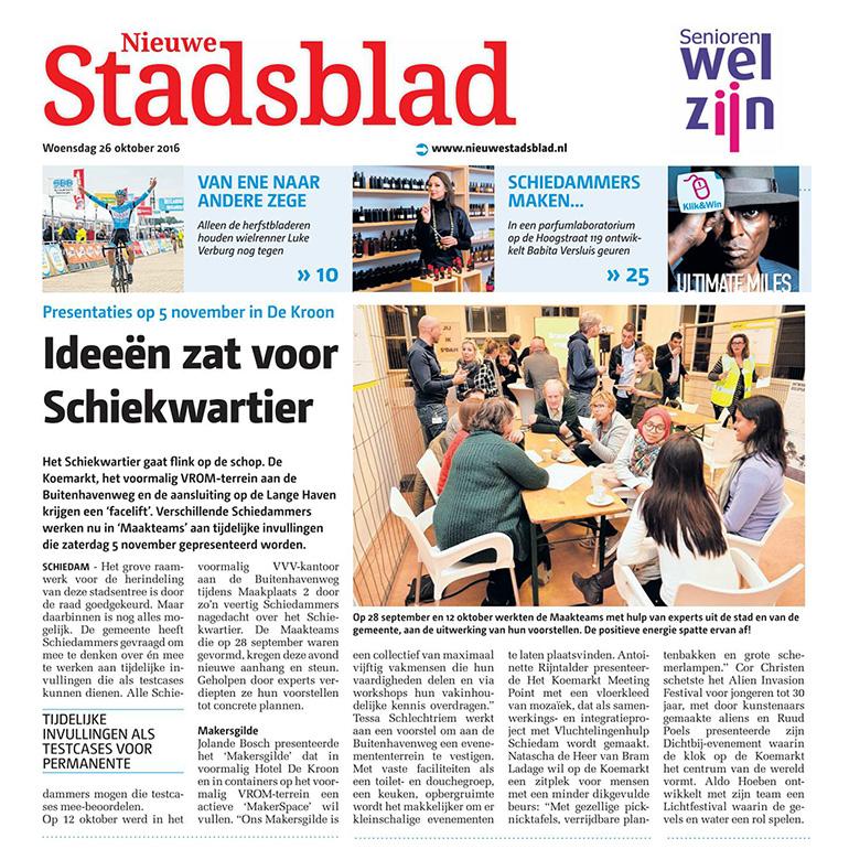 Maakplaats Schiedam - in de krant