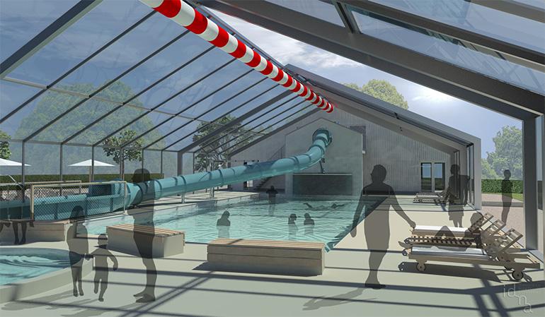 Zwembad De Wijde Blick - artist impression binnen