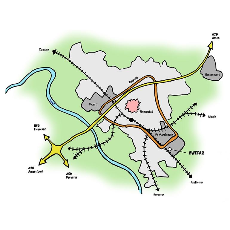 Bwefar: locatie Zwolle