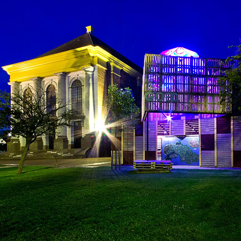 PleinGoed Zierikzee - Avondbeeld met de grote kerk - Rietlies photography
