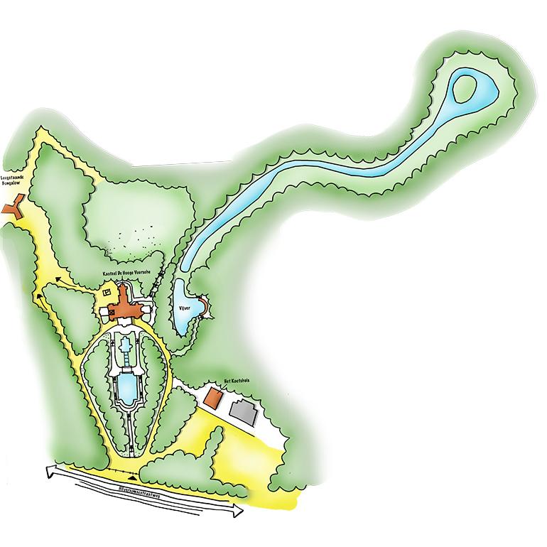 Kasteel De Hooge Vuursche - locatie