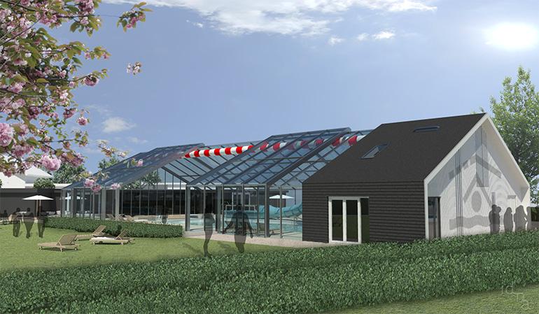 Zwembad De Wijde Blick - artist impression zwembad glaskap